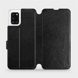 Flipové pouzdro Mobiwear na mobil Samsung Galaxy A31 v provedení C_BLS Black&Gray s šedým vnitřkem