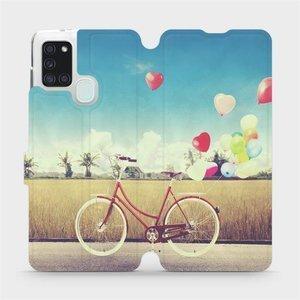 Flipové pouzdro Mobiwear na mobil Samsung Galaxy A21S - M133P Kolo a balónky