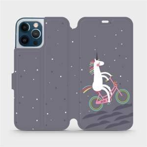 Flipové pouzdro Mobiwear na mobil Apple iPhone 12 Pro Max - V024P Jednorožec na kole