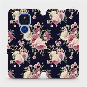 Flipové pouzdro Mobiwear na mobil Motorola Moto E7 Plus - V068P Růžičky