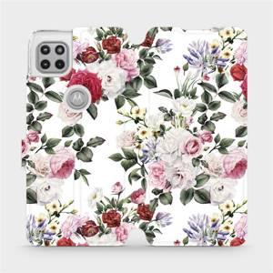 Flipové pouzdro Mobiwear na mobil Motorola Moto G 5G - MD01S Růže na bílé