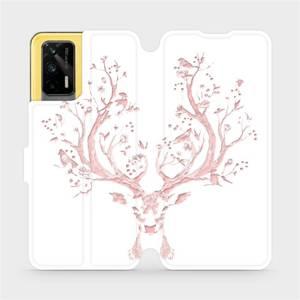 Flipové pouzdro Mobiwear na mobil Realme GT 5G - M007S Růžový jelínek