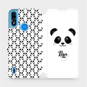 Flipové pouzdro Mobiwear na mobil Motorola Moto E7 Power - M030P Panda Amálka