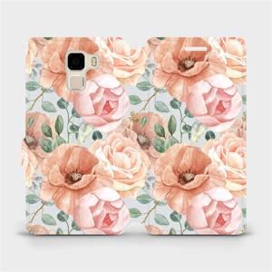 Flip pouzdro Mobiwear na mobil Honor 7 - MP02S Pastelové květy