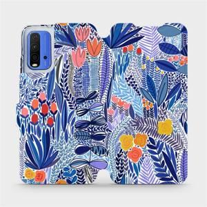 Flip pouzdro Mobiwear na mobil Xiaomi Redmi 9T - MP03P Modrá květena