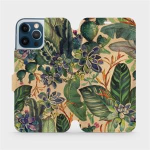 Flip pouzdro Mobiwear na mobil Apple iPhone 12 Pro Max - VP05S Sukulenty