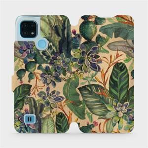 Flip pouzdro Mobiwear na mobil Realme C21 - VP05S Sukulenty