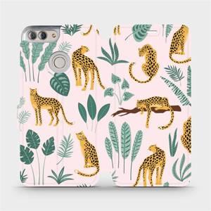 Flip pouzdro Mobiwear na mobil Huawei P Smart - MP07S Leopardi