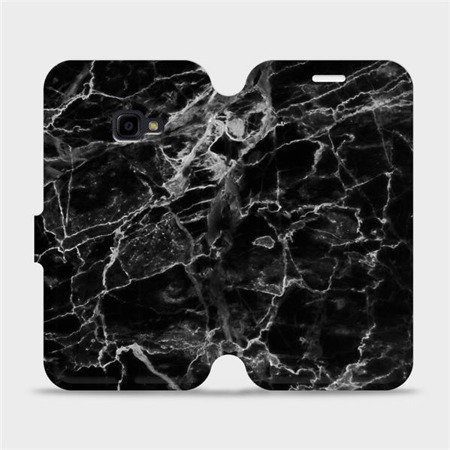 Flipové pouzdro Mobiwear na mobil Samsung Xcover 4 - V056P Černý mramor