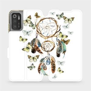 Flip pouzdro Mobiwear na mobil Xiaomi Poco M3 Pro 5G - M001P Lapač a motýlci
