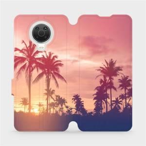 Flip pouzdro Mobiwear na mobil Nokia G20 - M134P Palmy a růžová obloha