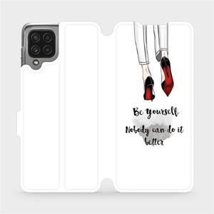 Flip pouzdro Mobiwear na mobil Samsung Galaxy M22 - M046P Be yourself
