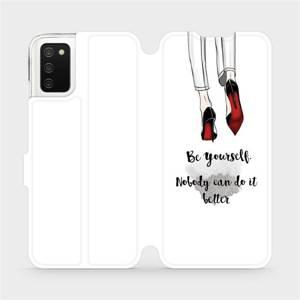 Flip pouzdro Mobiwear na mobil Samsung Galaxy A03s - M046P Be yourself