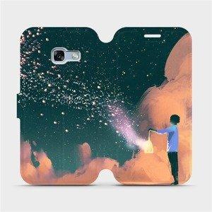 Flipové pouzdro Mobiwear na mobil Samsung Galaxy A3 2017 - VA14P Postava s lampou