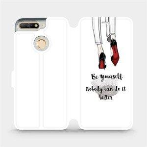 Flipové pouzdro Mobiwear na mobil Honor 7A - M046P Be yourself