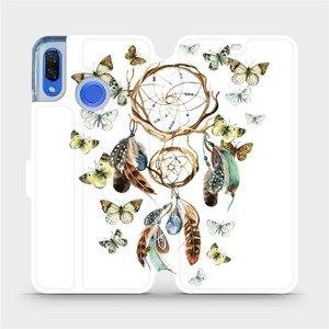 Flipové pouzdro Mobiwear na mobil Huawei Nova 3 - M001P Lapač a motýlci