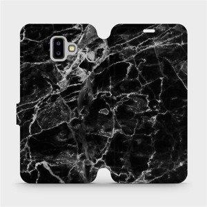 Flipové pouzdro Mobiwear na mobil Samsung Galaxy J6 Plus 2018 - V056P Černý mramor