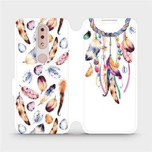 Flipové pouzdro Mobiwear na mobil Nokia 4.2 - M003S Lapač a barevná pírka
