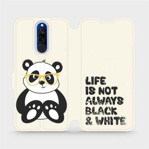 Flipové pouzdro Mobiwear na mobil Xiaomi Redmi 8 - M041S Panda - life is not always black and white
