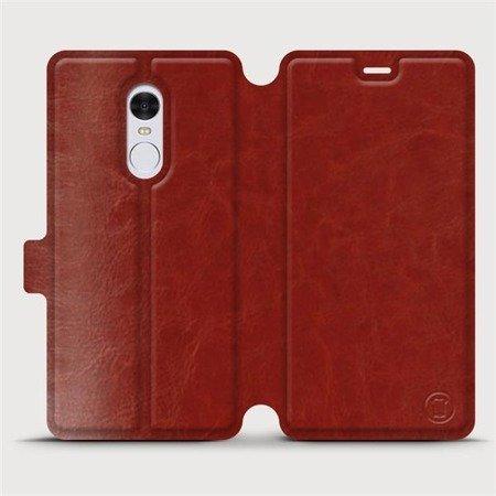 Parádní flip pouzdro Mobiwear na mobil Xiaomi Redmi Note 4 Global v provedení C_BRP Brown&Orange s oranžovým vnitřkem