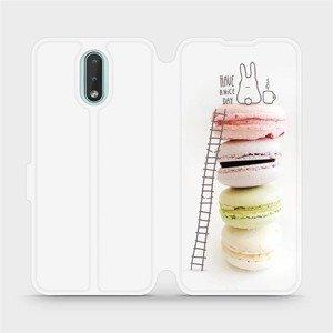 Flipové pouzdro Mobiwear na mobil Nokia 2.3 - M090P Makronky - have a nice day