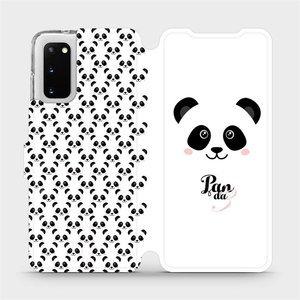 Flipové pouzdro Mobiwear na mobil Samsung Galaxy S20 - M030P Panda Amálka
