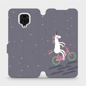 Flipové pouzdro Mobiwear na mobil Xiaomi Redmi Note 9 Pro - V024P Jednorožec na kole