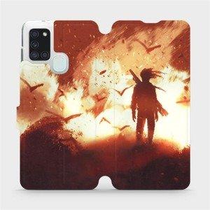 Flipové pouzdro Mobiwear na mobil Samsung Galaxy A21S - MA06S Postava v ohni