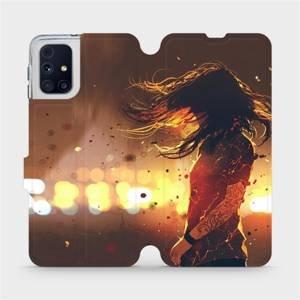Flipové pouzdro Mobiwear na mobil Samsung Galaxy M31s - MA02S Tetovaná dívka