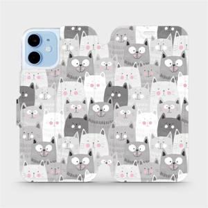 Flipové pouzdro Mobiwear na mobil Apple iPhone 12 mini - M099P Kočičky