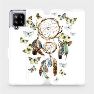 Flipové pouzdro Mobiwear na mobil Samsung Galaxy A42 5G - M001P Lapač a motýlci
