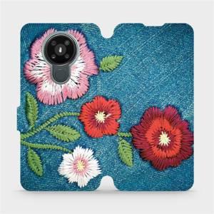 Flipové pouzdro Mobiwear na mobil Nokia 3.4 - MD05P Džínové květy