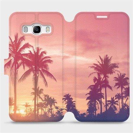 Flipové pouzdro Mobiwear na mobil Samsung Galaxy J5 2016 - M134P Palmy a růžová obloha
