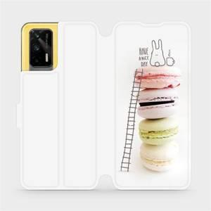 Flipové pouzdro Mobiwear na mobil Realme GT 5G - M090P Makronky - have a nice day
