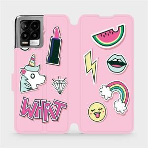 Flip pouzdro Mobiwear na mobil Realme 8 Pro - M129S Růžové WHAT
