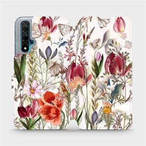 Flip pouzdro Mobiwear na mobil Huawei Nova 5T - MP01S Rozkvetlá louka