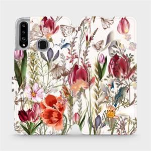 Flip pouzdro Mobiwear na mobil Samsung Galaxy A20S - MP01S Rozkvetlá louka