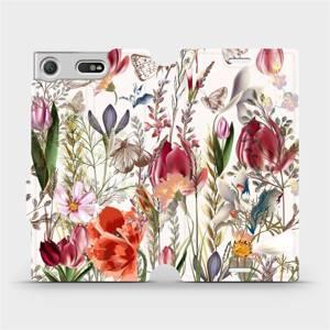 Flip pouzdro Mobiwear na mobil Sony Xperia XZ1 Compact - MP01S Rozkvetlá louka
