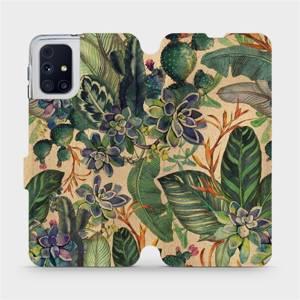 Flip pouzdro Mobiwear na mobil Samsung Galaxy M31s - VP05S Sukulenty