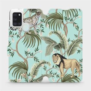 Flip pouzdro Mobiwear na mobil Samsung Galaxy A21S - MP08S Dvě kočičky