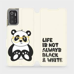 Flip pouzdro Mobiwear na mobil Xiaomi Poco M3 Pro 5G - M041S Panda - life is not always black and white