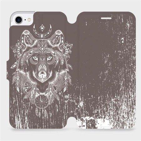 Flipové pouzdro Mobiwear na mobil Apple iPhone 8 - V064P Vlk a lapač snů