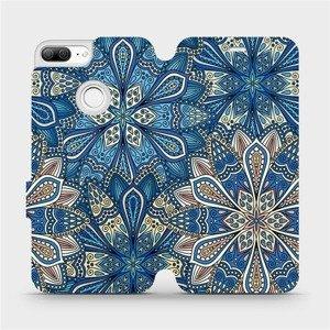 Flipové pouzdro Mobiwear na mobil Honor 9 Lite - V108P Modré mandala květy