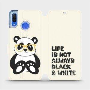 Flipové pouzdro Mobiwear na mobil Huawei Nova 3 - M041S Panda - life is not always black and white