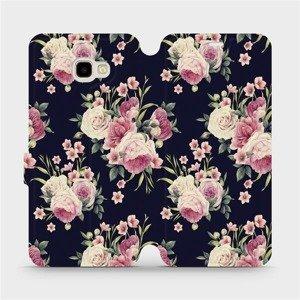 Flipové pouzdro Mobiwear na mobil Samsung Galaxy J4 Plus 2018 - V068P Růžičky