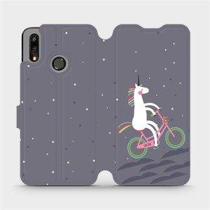 Flipové pouzdro Mobiwear na mobil Huawei P Smart 2019 - V024P Jednorožec na kole