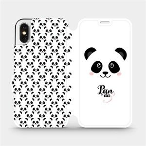 Flipové pouzdro Mobiwear na mobil Apple iPhone X - M030P Panda Amálka