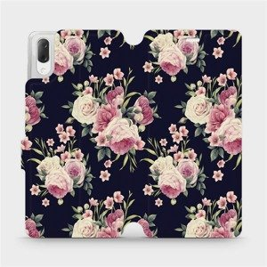 Flipové pouzdro Mobiwear na mobil Sony Xperia L3 - V068P Růžičky
