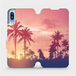 Flipové pouzdro Mobiwear na mobil Huawei Y6 2019 - M134P Palmy a růžová obloha