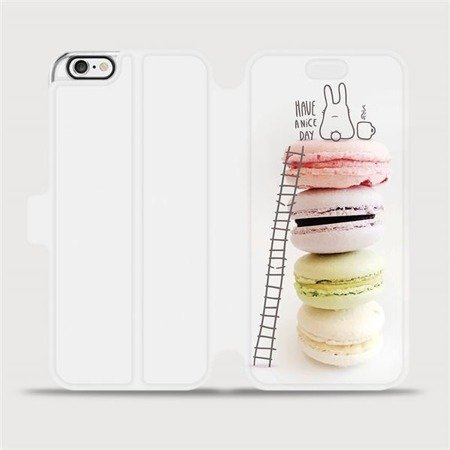 Flipové pouzdro Mobiwear na mobil Apple iPhone 6 / iPhone 6s - M090P Makronky - have a nice day